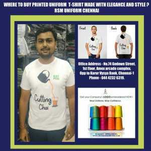 Printed T shirt suppliers in Chennai