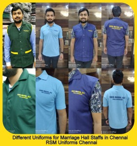 Complete uniform package for wedding halls in Chennai
