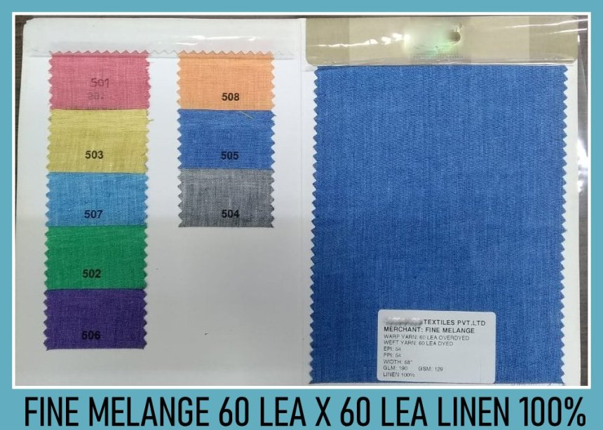 Fine melange - Linen fabric wholesalers in Chennai