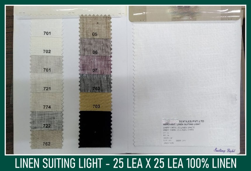 Linen Suiting Light - Linen fabric wholesalers in Chennai
