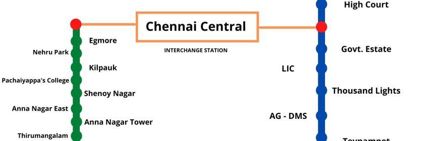 Chennai Metro route