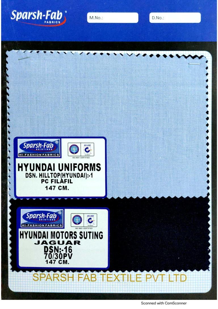 Hyundai uniforms in India