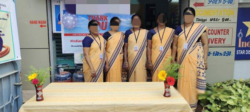 Indane gas Uniform sarees and salwar now at RSM Uniforms