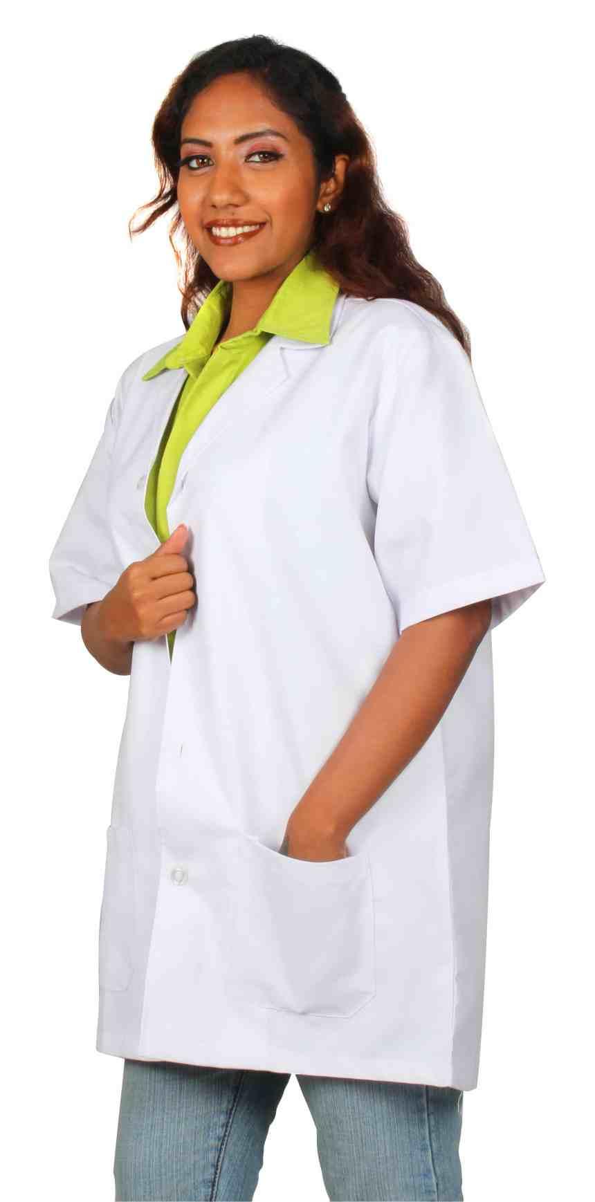 White half sleeves lab coat in Chennai