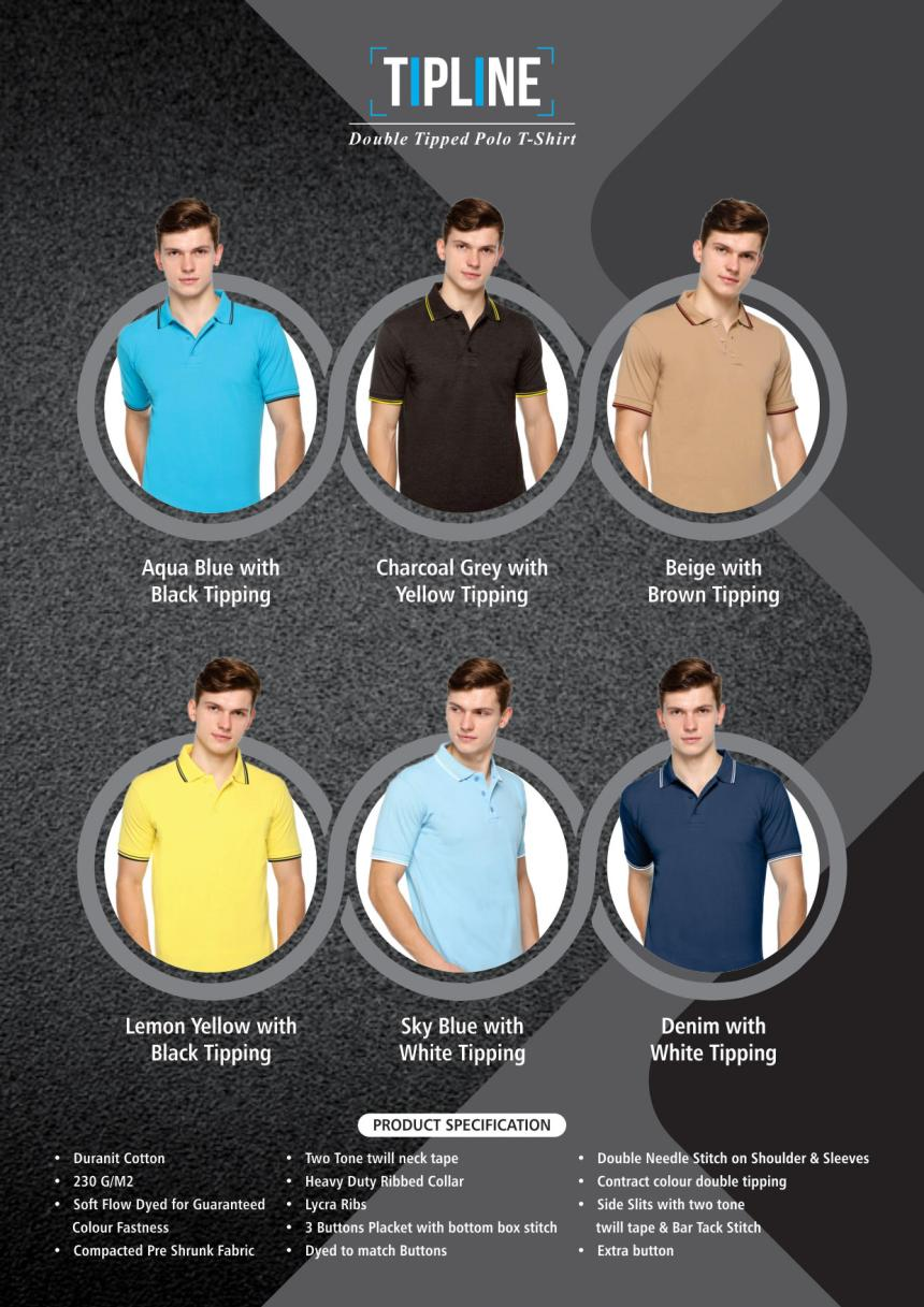 Tipline double tipped polo T shirt