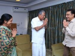 Kamal Haasan Met Pinarayi Vijayan Photos 3