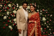 Arya - Sayyesha Reception Photos 13