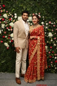 Arya - Sayyesha Reception Photos 2