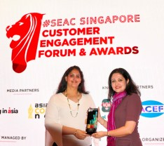 Ms. Shabnam Syed at SEAC Awards in Singapore