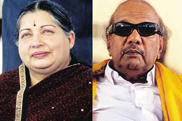 Jaya, Karunanidhi cast votes