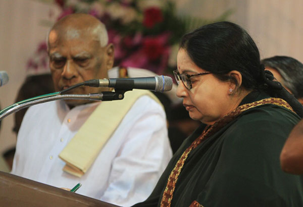 Jaya takes charge as CM for 6th time