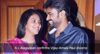 A L Alagappan confirms Vijay-Amala Paul divorce