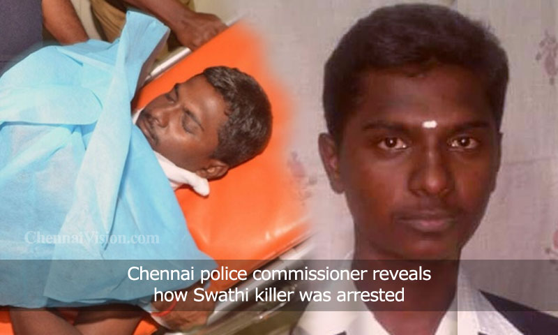 Chennai police commissioner reveals how Swathi killer was arrested