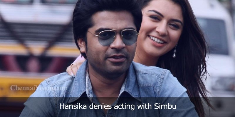 Hansika denies acting with Simbu
