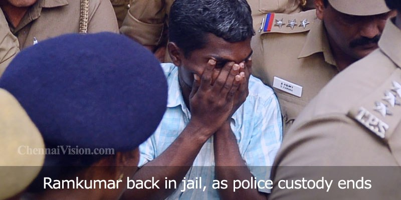 Ramkumar back in jail, as police custody ends