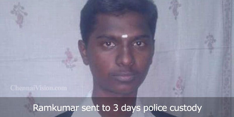Ramkumar sent to 3 days police custody