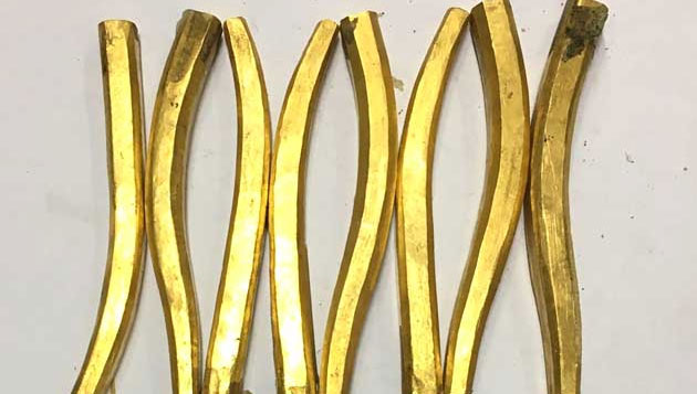 6 kg gold smuggled as cutting pliers, 8 arrested