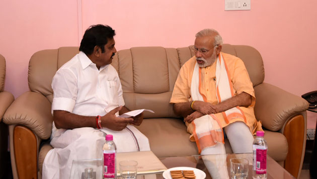 Edappadi Palaniswami in Delhi to meet Modi