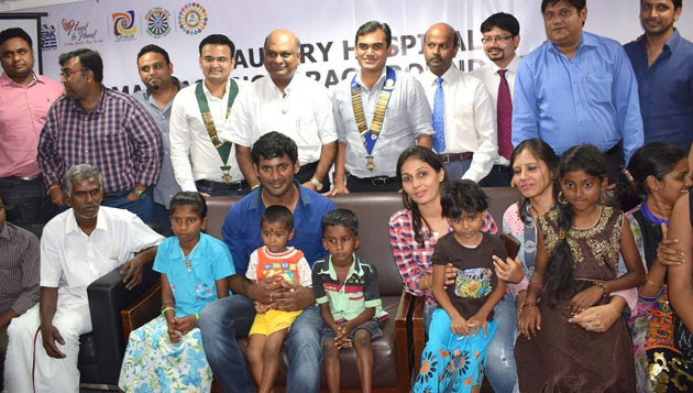 Actor Vishal launches 100 free Heart Surgeries Initiative for Children