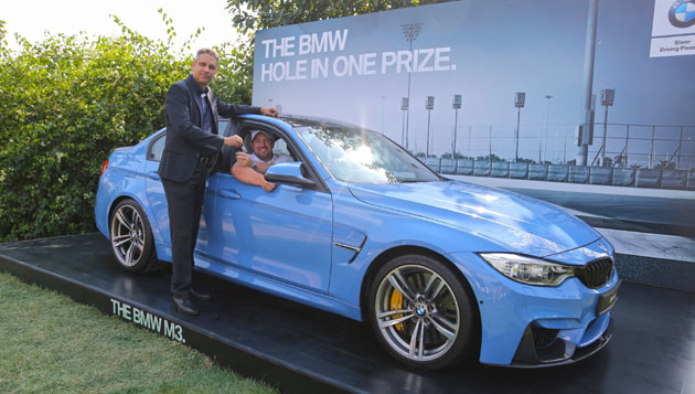 Scottish Golfer Duncan Stewart scores a Hole-in-One in Hero Indian Open India, drives home a BMW M3