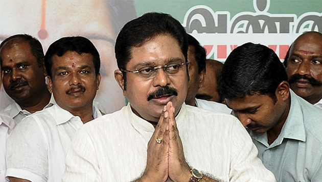 Delhi police in Chennai to quiz Dinakaran, supporter attempts self-immolation
