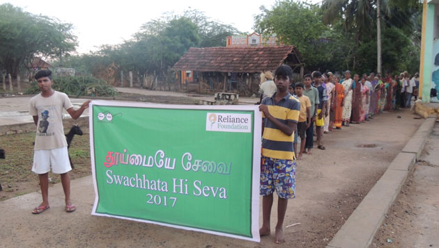 Villages In Tamil Nadu Join Reliance Foundation And The Government Of India In The 'swachhta Hi Seva' Campaign