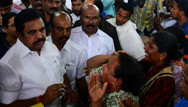 CM visits Kanyakumari, hikes Ockhi death compensation to Rs 20 lakh