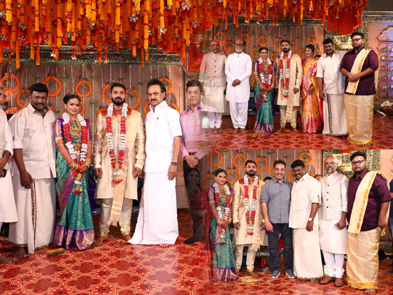 Keertha wedding CM, Stalin, Rajini, Kamal in attendance