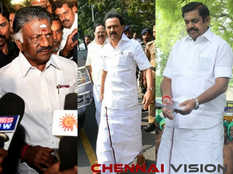 EPS-OPS, Stalin pay respects to Vajpayee's ashes in Chennai