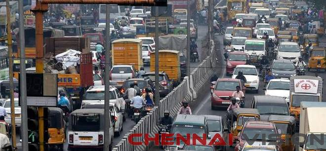Chennai roads choke with traffic due to protest & VVIP visits