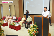 Picture 1 - Thiru K Ponmudi, Honourable Minister for Higher Education, Government of Tamil Nadu addressing the gathering
