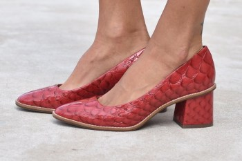 Zapatos Royce Cereza (taco forrado)