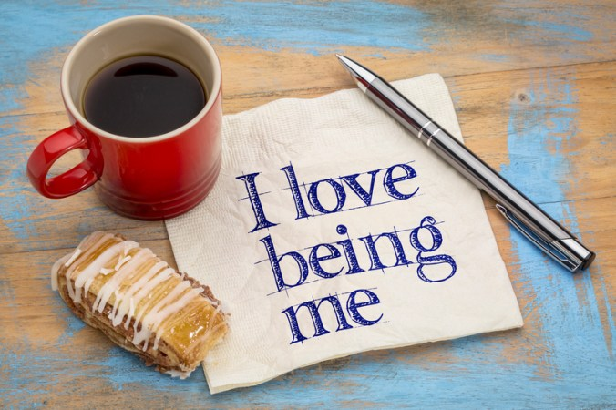 I love being me - napkin