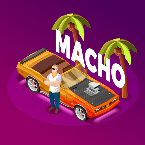 Macho Man Luxury Car isometric Image