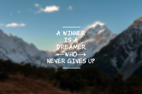 Don't give up winner
