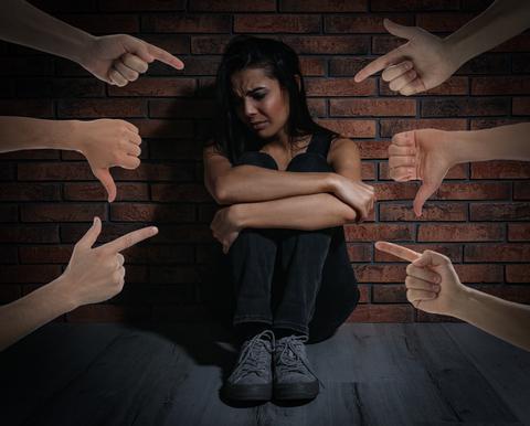 bullied victim blamed sad depressed