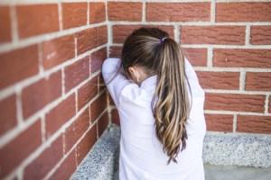 bullied girl crying