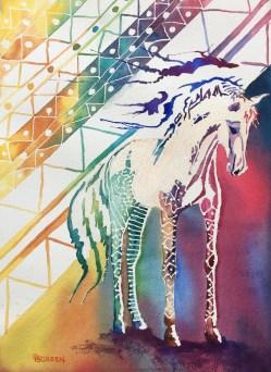"""Dream Horse #1a """"African Queen"""" 14""""x10"""" $350"""