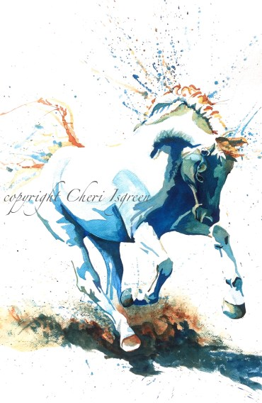 """Conversano Mima"" watercolor, copyright C Isgreen"