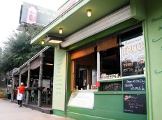 View of Jo's Coffee from South Congress Avenue.