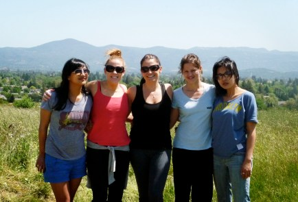 On a hike in Napa Valley.