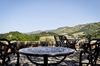 Silverado Vineyards terrace.