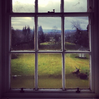 Through the window. Brahan Estate, Scotland.