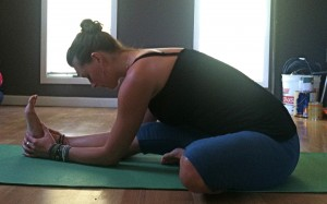 Janusirsasana: Head to knee forward bend.
