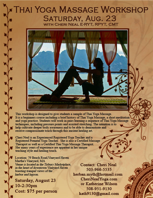 Martha's Vineyard Thai Yoga Massage Workshop