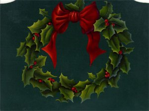 Holly Wreath by Cheri Rol