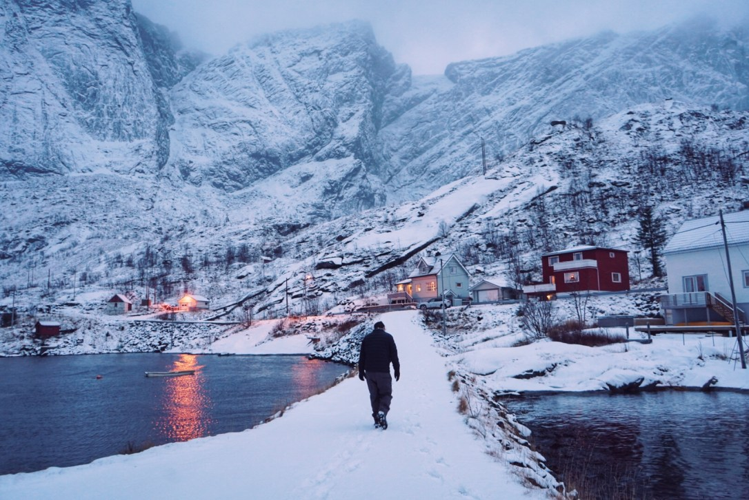 reine lofoten norway ice winter snow arctic circle