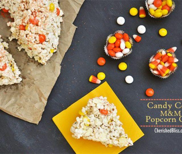 Candy Corn Mm Popcorn Cake