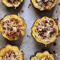 Sausage and Apple Stuffed Acorn Squash