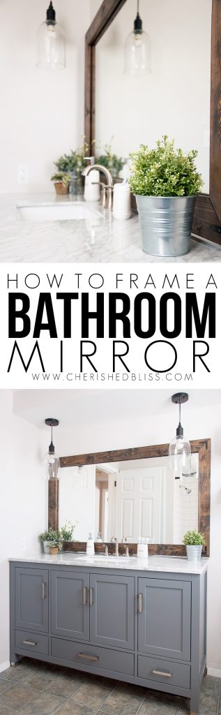 How to Frame a Bathroom Mirror Cherished Bliss